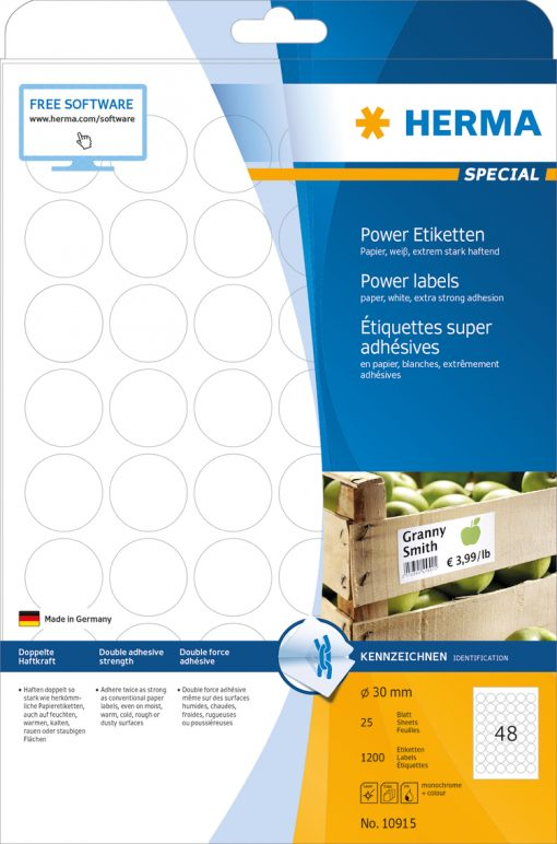 HERMA 10915 POWER LABELS A4
