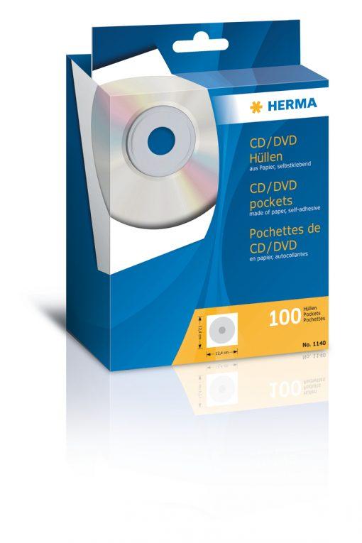 HERMA 1140 CD/DVD POCKETS WHIT