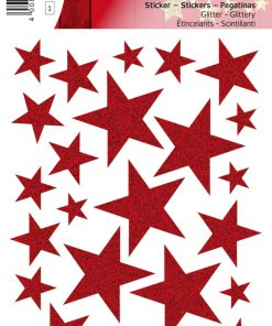 HERMA 15099 MAGIC STARS RED