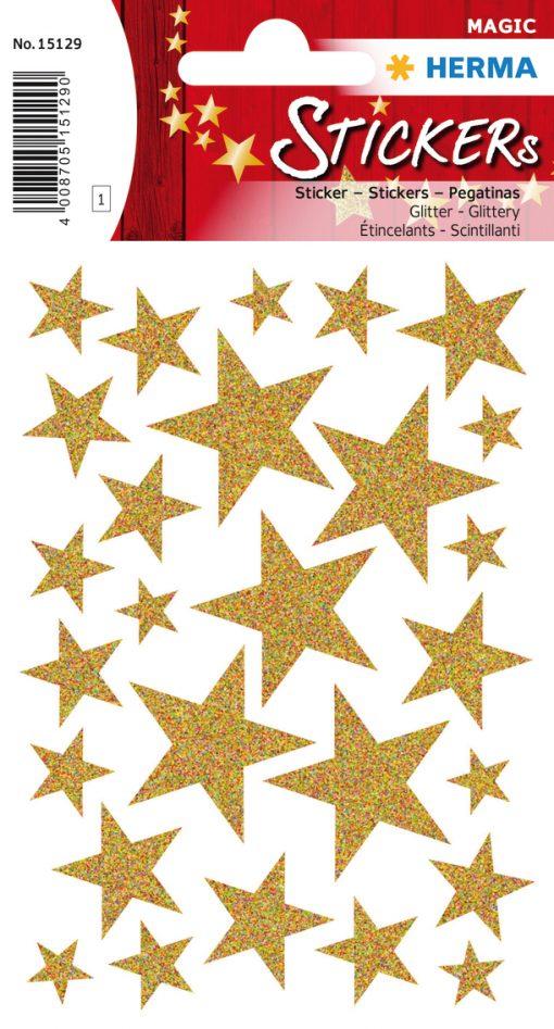 HERMA 15129 MAGIC STARS GOLD