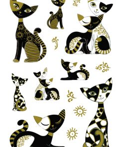 HERMA 3176 MAGIC gold cats