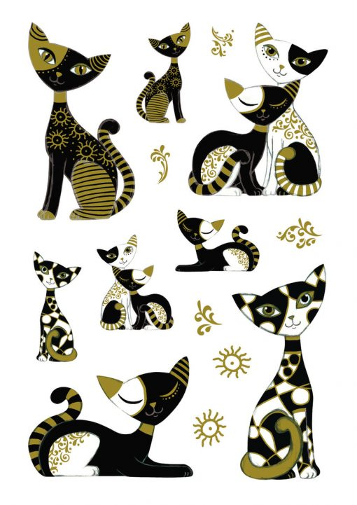 HERMA 3176 MAGIC gold cats