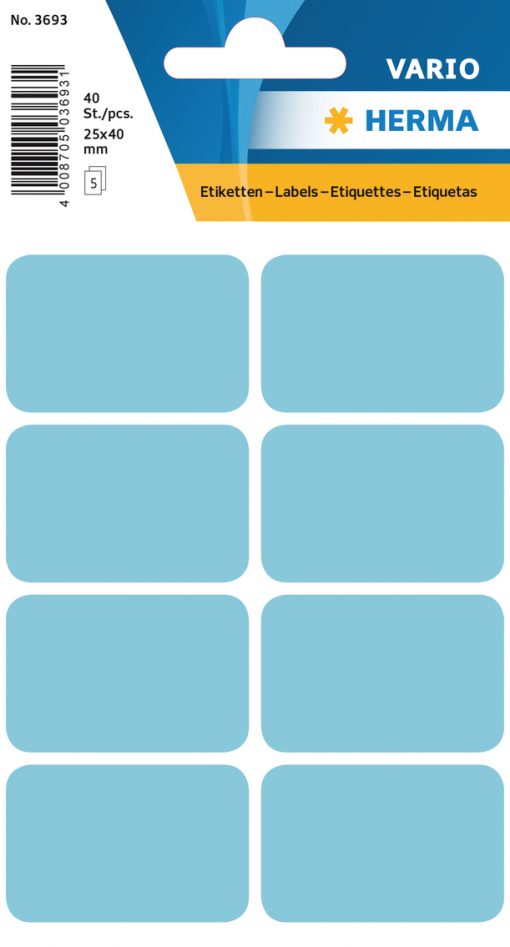 HERMA 3693 VARIO LABELS BLUE