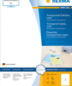 HERMA 4376 TRANSPARENT LABELS