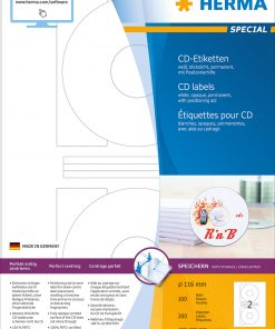 HERMA 4471 CD LABELS OPAQUE A4