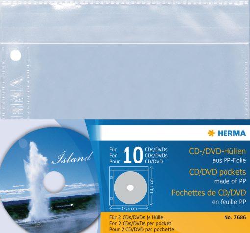 HERMA 7686 CD/DVD POCKETS PP