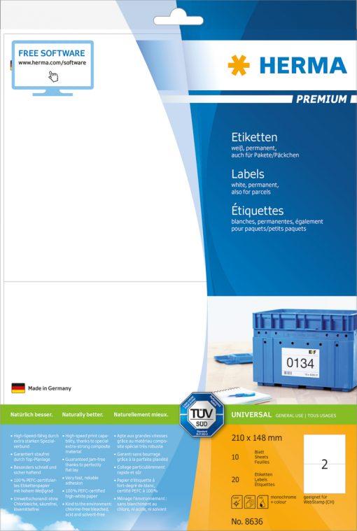 HERMA 8636 PREMIUM LABELS A4