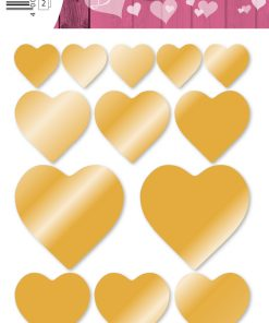 HERMA 1757 DECOR HEARTS GOLD