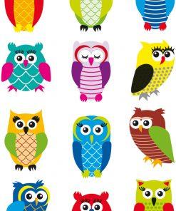 HERMA 3224 MAGIC OWLS GLITTERY