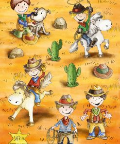 HERMA 3264 MAGIC FUNNY COWBOYS