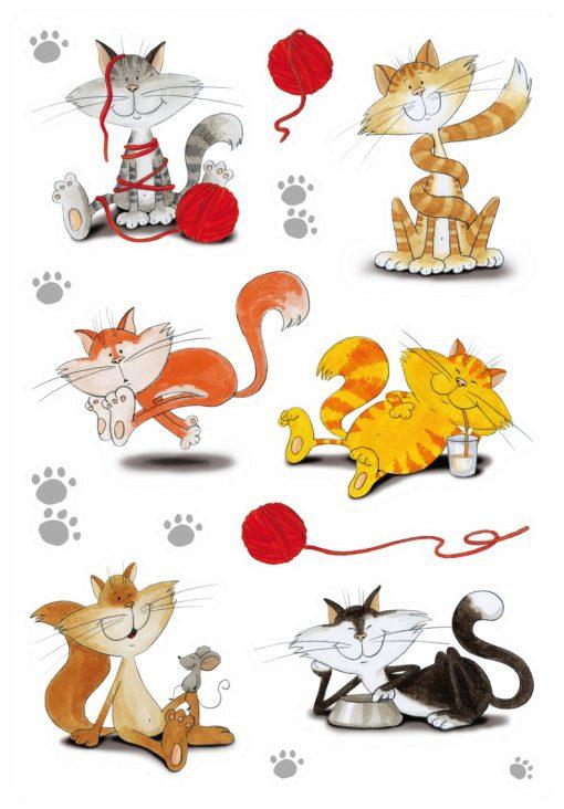 HERMA 3357 DECOR FUNNY CATS