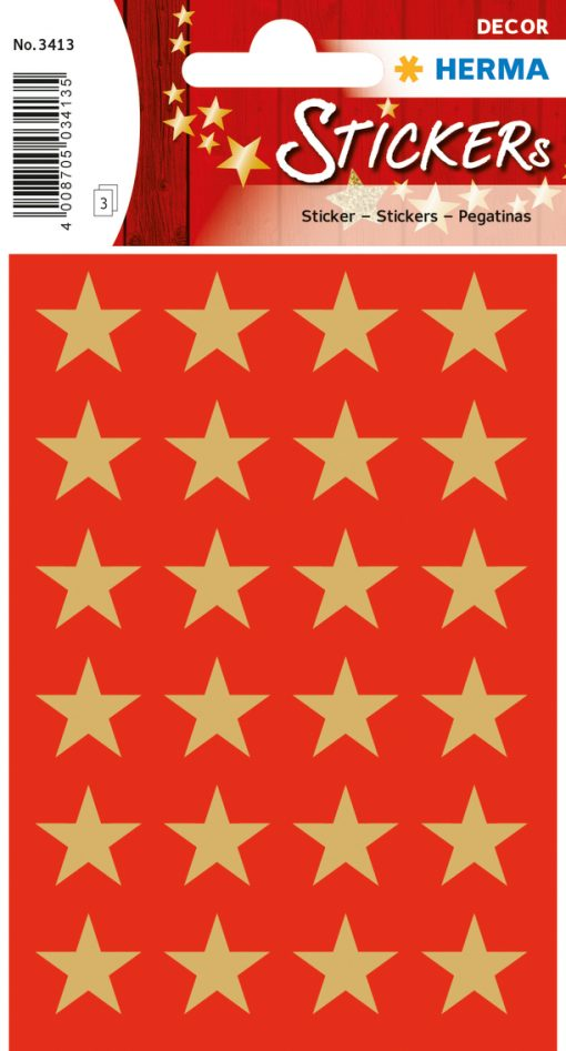 HERMA 3413 DECOR STARS 15MM