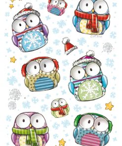 HERMA 3712 MAGIC WINTER OWLS M