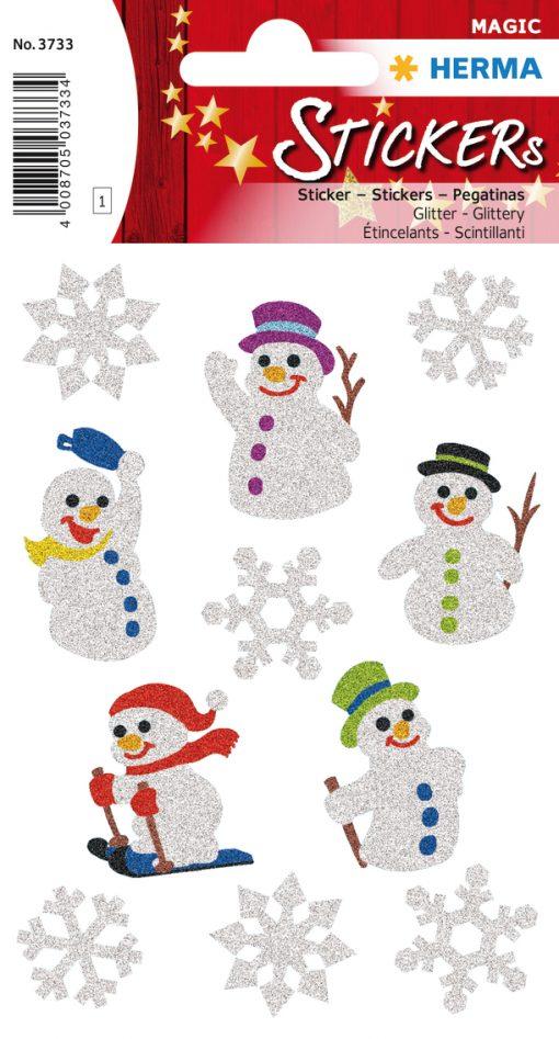 HERMA 3733 MAGIC SNOW MEN GLIT