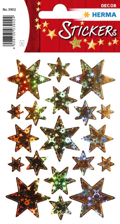 HERMA 3902 DECOR STARS HOLO