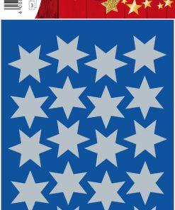 HERMA 3906 DECOR STARS SILVER