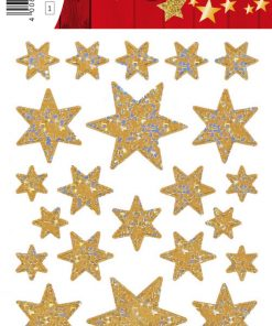 HERMA 3916 DECOR STARS GOLD/RE