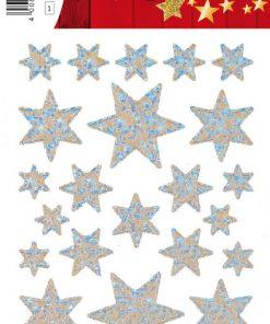 HERMA 3917 DECOR STARS SILVER