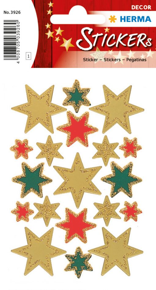 HERMA 3926 DECOR STARS GLITTE