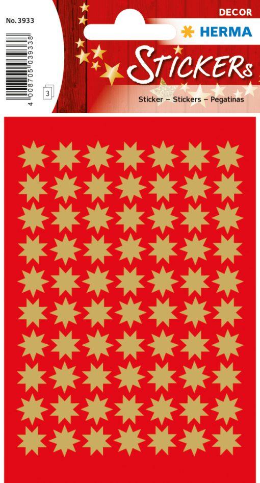 HERMA 3933 DECOR STARS GOLD
