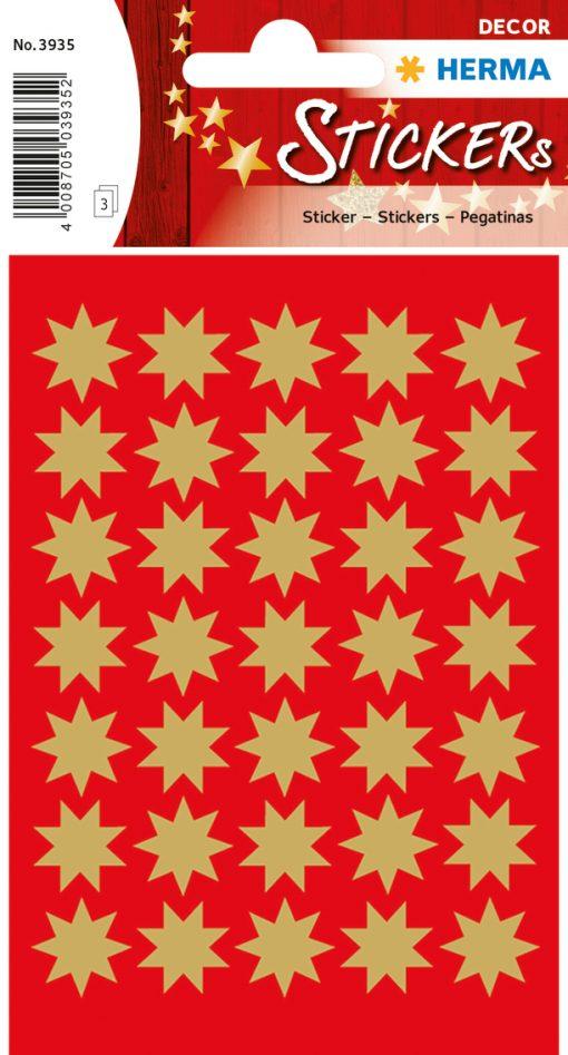 HERMA 3935 DECOR STARS GOLD E