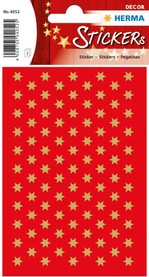 HERMA 4052 DECOR STARS RED/GOL