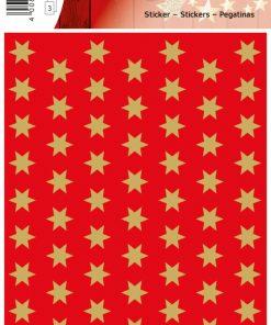 HERMA 4054 DECOR STARS RED/GOL