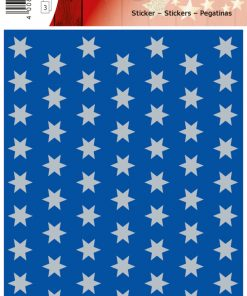 HERMA 4058 DECOR STARS BLUE/SI