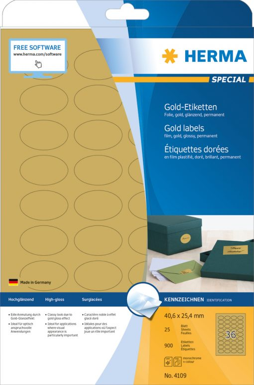 HERMA 4109 GOLD LABELS A4