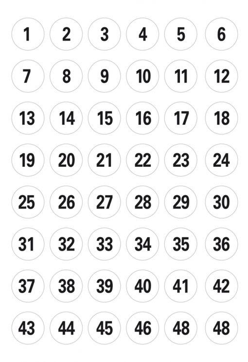 HERMA 4124 VARIO NUMBERS 1-240