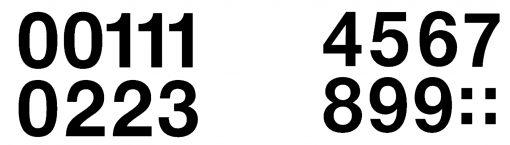 HERMA 4189 VARIO NUMBERS 0-9
