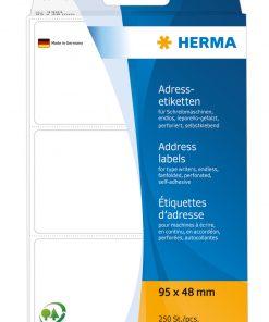 HERMA 4301 ADDR LABELS FANFOLD