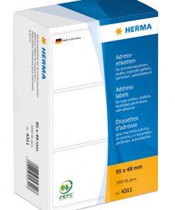 HERMA 4311 ADDR LABELS FANFOLD