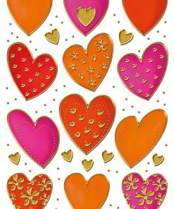 HERMA 3618 DECOR HEARTS GOLD