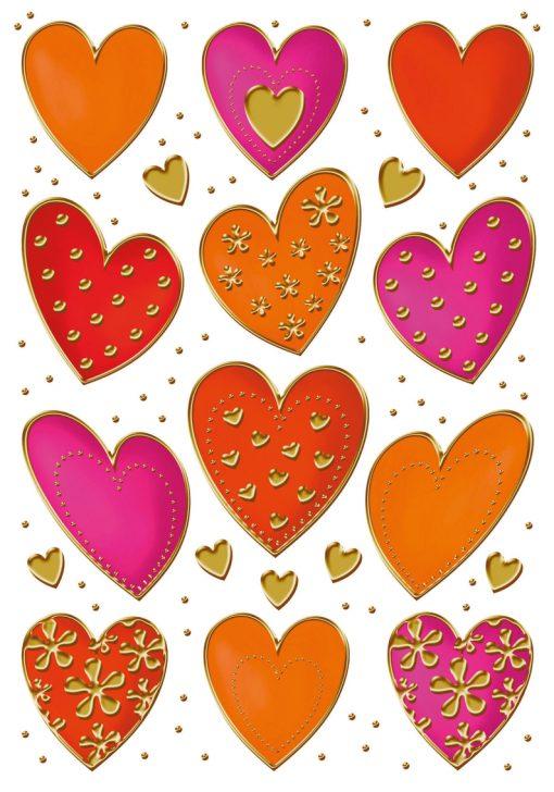 HERMA 3618 DECOR HEARTS GOLD