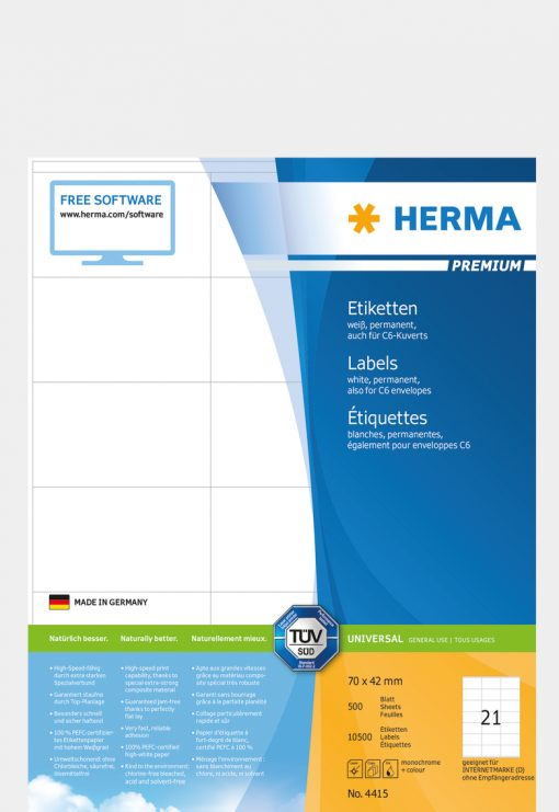 HERMA 4415 PREMIUM LABELS A4