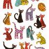 HERMA 3337 DECOR ABSTRACT CATS
