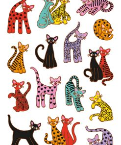 HERMA 3337 DECOR ABSTRACT CATS
