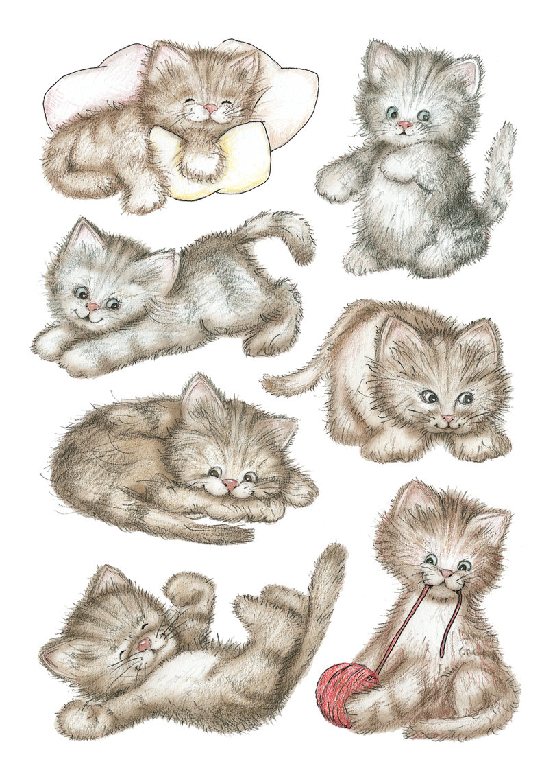 волк маленькие картинки кошки рисунки вот если