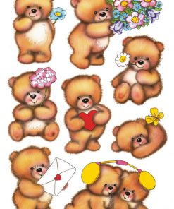 HERMA 3578 DECOR BEARS&FLOWERS