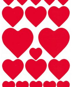 HERMA 3827 DECOR HEARTS RED