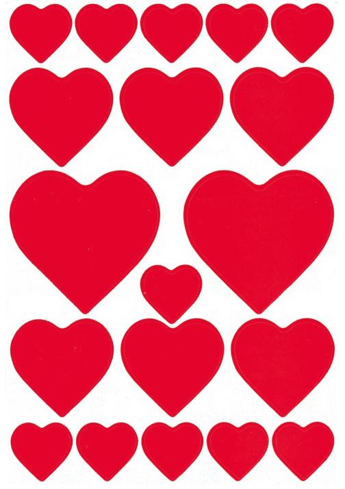 HERMA 3827 DECOR HEARTS RED