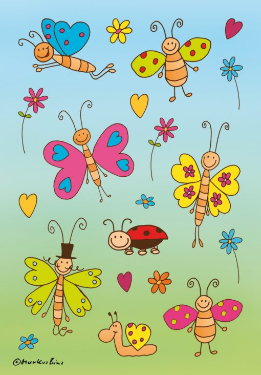 HERMA 3303 DECOR FUNNY BUTTERF