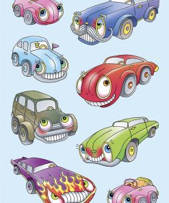 HERMA 6099 MAGIC CARS EMBOSSED