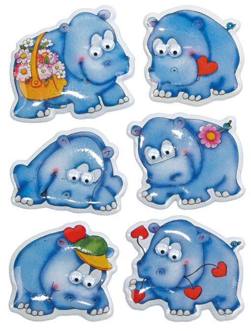 HERMA 6843 MAGIC HIPPOS MOVING