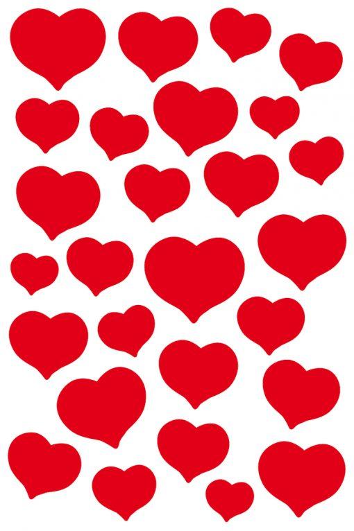 HERMA 3254 MAGIC RED HEARTS ST