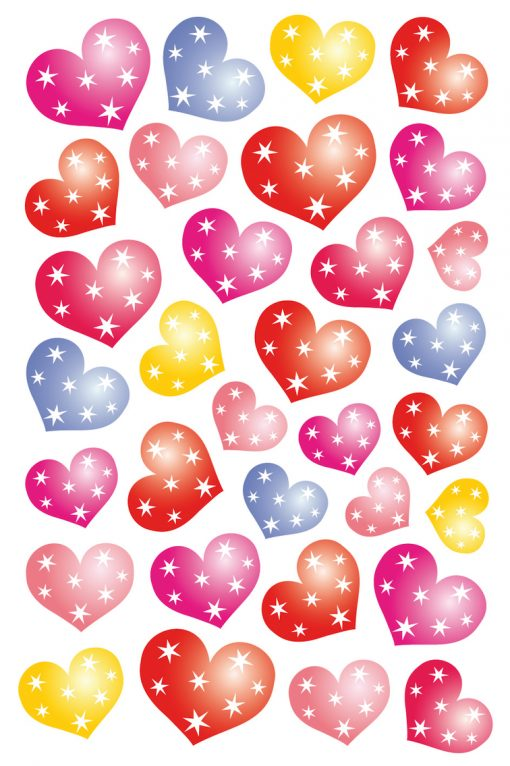 HERMA 3256 MAGIC HEARTS WITH D