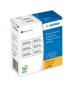 HERMA 4800 TRIPLICATE NUMBERS