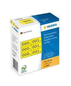 HERMA 4801 TRIPLICATE NUMBERS