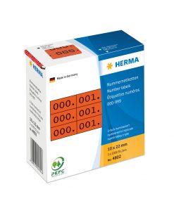 HERMA 4802 TRIPLICATE NUMBERS